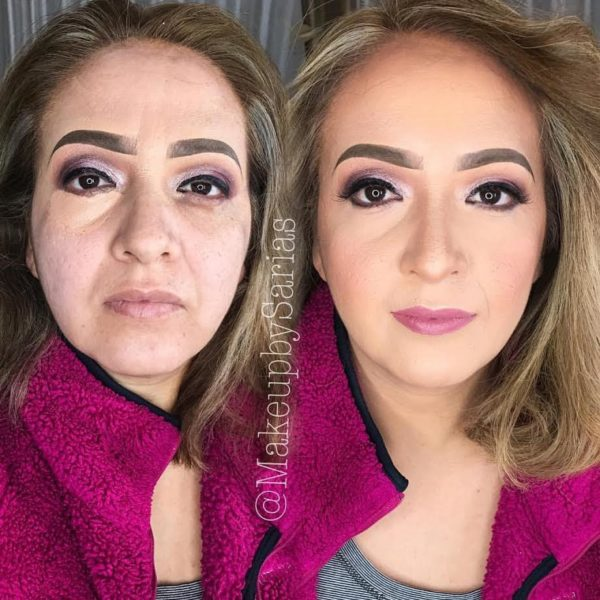 before and after concealer orange masking creme