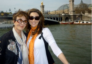 Now: With daughter Melissa - Paris, France 2010  And the beat goes on...thanks goodness!  I love you Melissa!